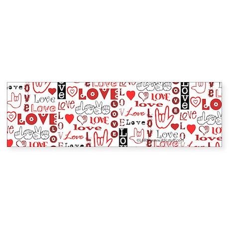 Love WordsHearts Bumper Sticker