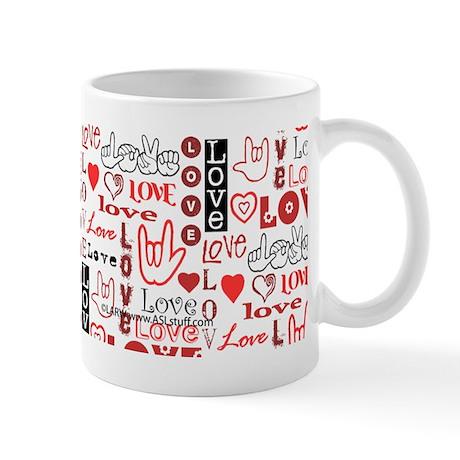 Love WordsHearts Mug