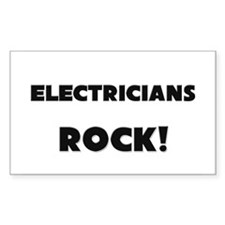 Electricians ROCK Rectangle Decal