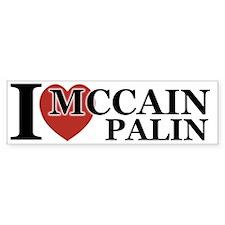 I Luv McCain Palin Bumper Bumper Sticker