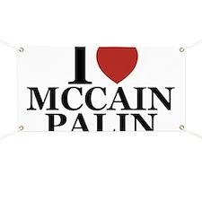 I Luv McCain Palin Banner