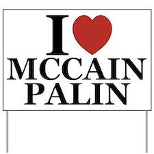 I Luv McCain Palin Yard Sign