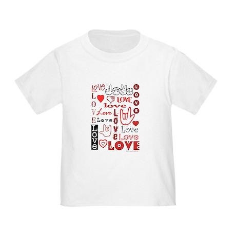 Love WordsHearts Toddler T-Shirt