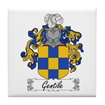 Gentile Family Crest Tile Coaster