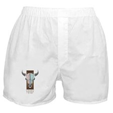 Native American Cow Skull Boxer Shorts