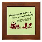 Sun Bathing Otter Framed Tile