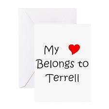 Terrell name Greeting Card