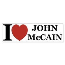 I Love John McCain Bumper Bumper Sticker