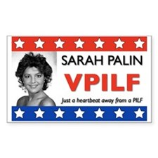 Sarah Palin Heartbeat Rectangle Decal
