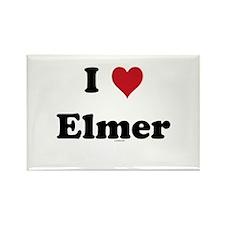 I love Elmer Rectangle Magnet