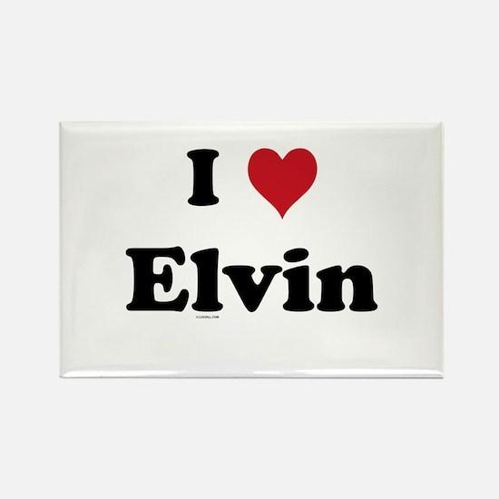 I love Elvin Rectangle Magnet
