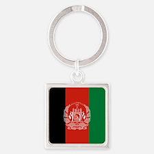 Flag: Afghanistan Square Keychain