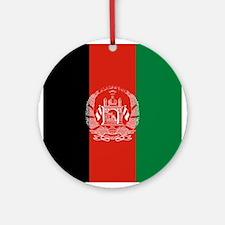Flag: Afghanistan Round Ornament
