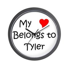 Cute Tyler Wall Clock