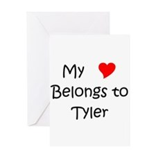 Cute My heart belongs to a baseball player Greeting Card
