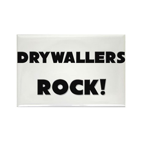 Drywallers ROCK Rectangle Magnet (10 pack)