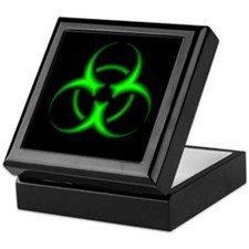 Neon Green Biohazard Symbol Keepsake Box
