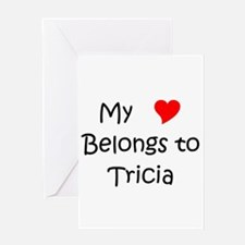 Funny My heart belongs issac Greeting Card