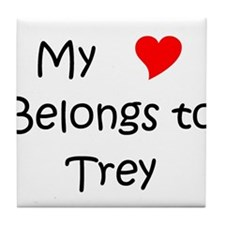 Cute Trey Tile Coaster