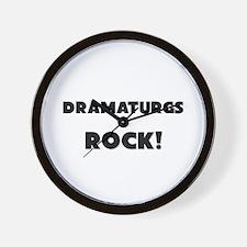 Dramaturgs ROCK Wall Clock