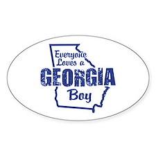 Georgia Boy Oval Stickers