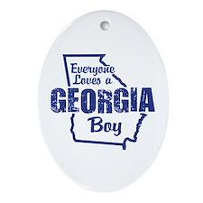 Georgia Boy Oval Ornament