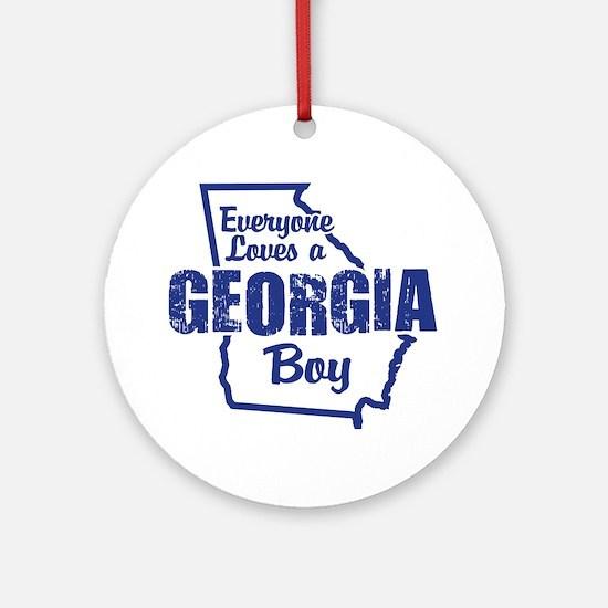 Georgia Boy Ornament (Round)