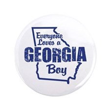 "Georgia Boy 3.5"" Button"