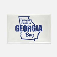 Georgia Boy Rectangle Magnet