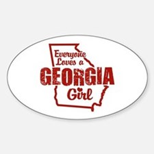 Georgia Girl Oval Decal