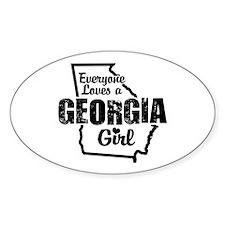 Georgia Girl Oval Decal