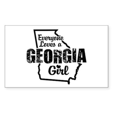 Georgia Girl Rectangle Sticker