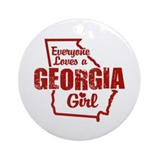 Georgia Girl Ornament (Round)
