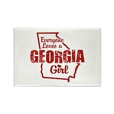 Georgia Girl Rectangle Magnet