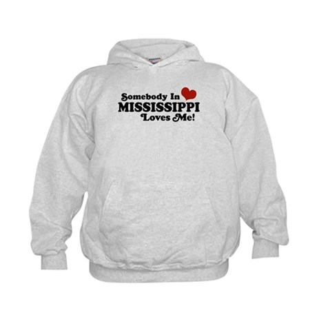 Somebody in Mississippi Loves Me Kids Hoodie