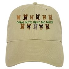 Both Corgi Butts (Plain Bckgn) Baseball Cap