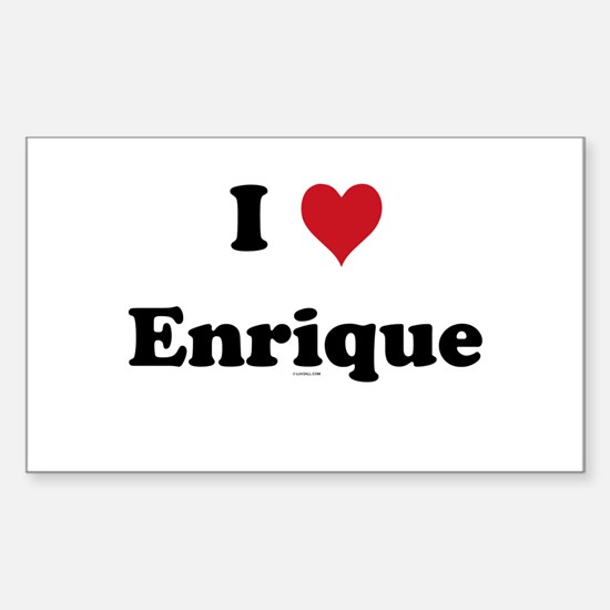 I love Enrique Rectangle Decal