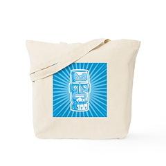 Tiki (blue) Tote Bag