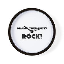 Drama Therapists ROCK Wall Clock