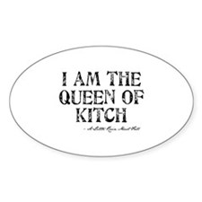 Queen of Kitch Oval Decal