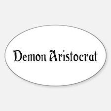 Demon Aristocrat Oval Decal