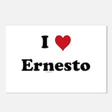 I love Ernesto Postcards (Package of 8)