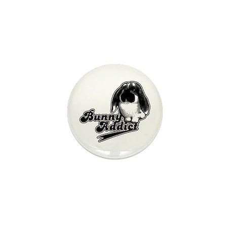 Bunny Addict Mini Button (10 pack)