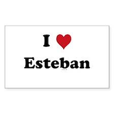 I love Esteban Rectangle Decal