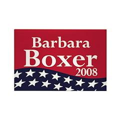 Barbara Boxer 2008 Refrigerator Magnet