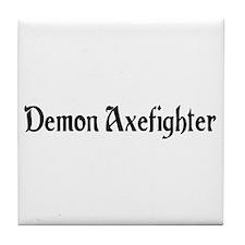Demon Axefighter Tile Coaster
