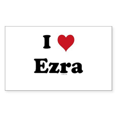 I love Ezra Rectangle Sticker
