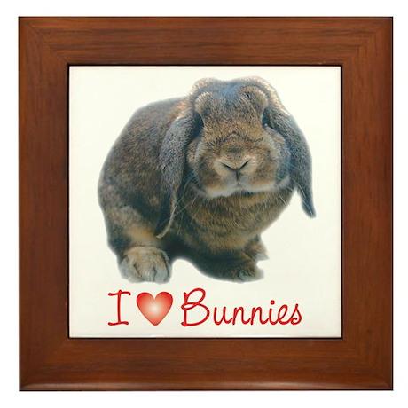 bunny lover Framed Tile