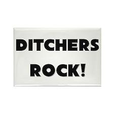 Ditchers ROCK Rectangle Magnet