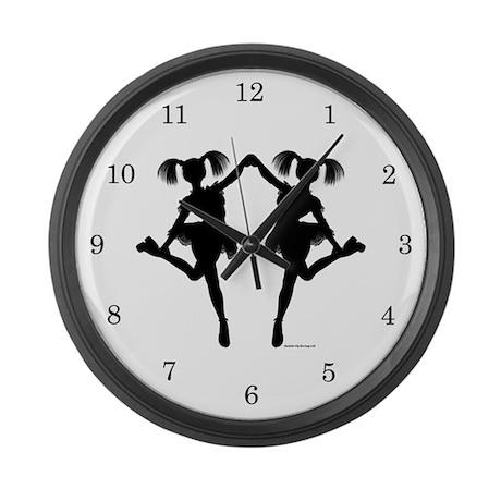 Cheerleader Large Wall Clock